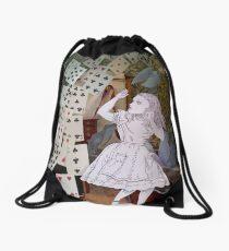 Alice In Wonderland/The Pack of Cards Drawstring Bag