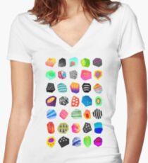 Shards Women's Fitted V-Neck T-Shirt
