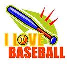 I Love Baseball by Mental Itch