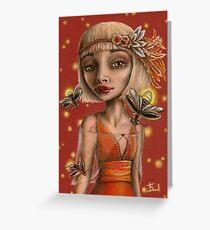 Venus and Fireflies Greeting Card
