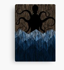 Cthulhu's sea of madness - Brown Canvas Print