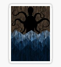 Cthulhu's sea of madness - Brown Sticker