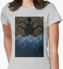 Cthulhu's sea of madness - Brown Womens Fitted T-Shirt