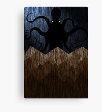 Cthulhu's mountains of madness - blue Canvas Print