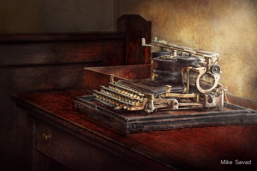 Steampunk - A crusty old typewriter by Michael Savad