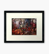 Steampunk - My transportation device Framed Print