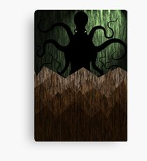 Cthulhu's mountains of madness - green Canvas Print
