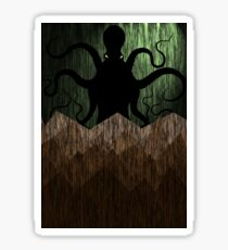 Cthulhu's mountains of madness - green Sticker