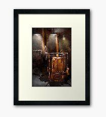 Steampunk - Powering the modern home Framed Print