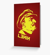 Vintage Lenin Greeting Card