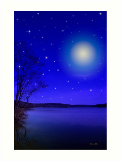 Moon and Stars by Christina Rollo