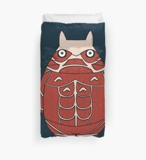 Attack on Totoro Duvet Cover