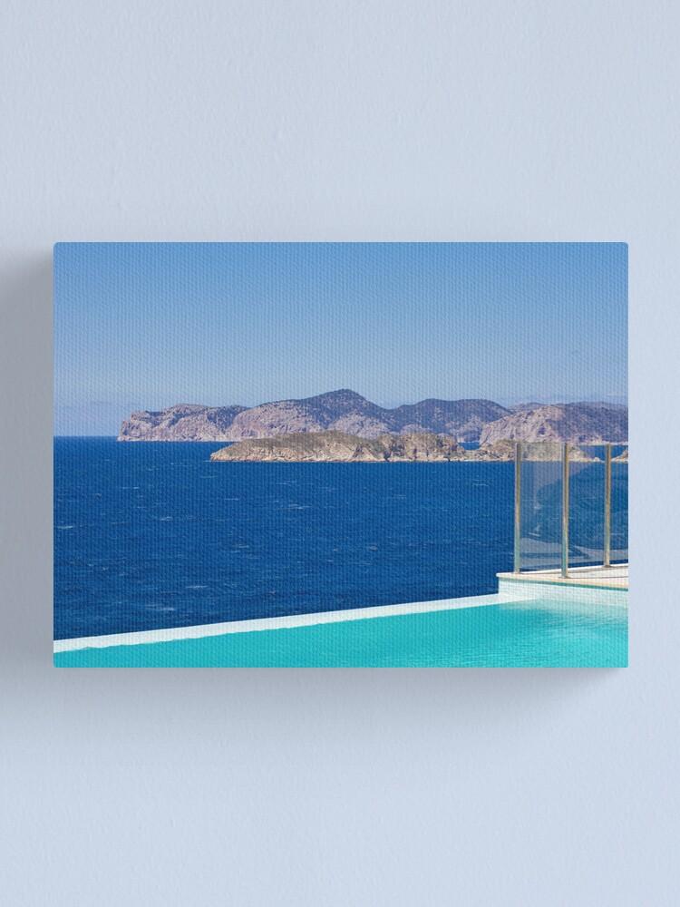 Alternate view of Infinity pool overlooking the Mediterranean Sea Canvas Print