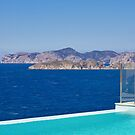 Infinity pool overlooking the Mediterranean Sea by Philip  Rogan