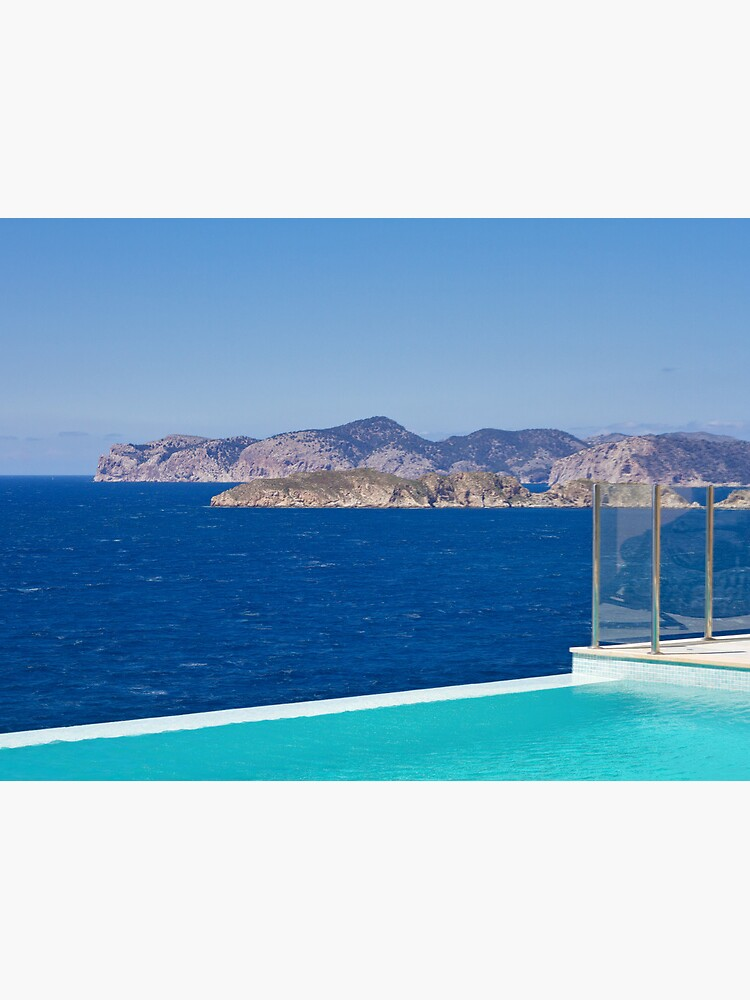 Infinity pool overlooking the Mediterranean Sea by rogues70