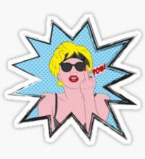 Lady Gaga Pop Art Pow! Sticker