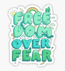 Freedom Over Fear Sticker