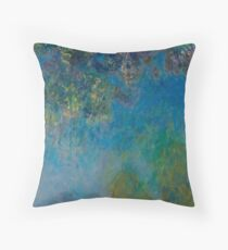 Wisteria by Claude Monet Throw Pillow