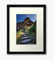 Stone Climb Framed Print