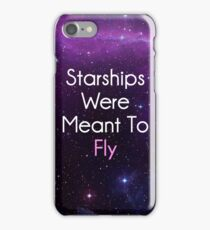 Starships were meant to fly Nicki Minaj iPhone Case/Skin