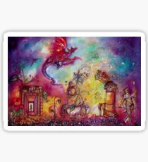 GARDEN OF THE LOST SHADOWS  / FLYING RED DRAGON Sticker