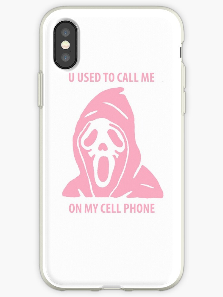 newest 88243 c2e32 'U USED TO CALL ME ON MY CELL PHONE' iPhone Case by CliqueOne