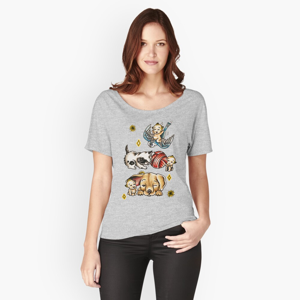 Kewpies & Baby Animals Flash  Women's Relaxed Fit T-Shirt Front