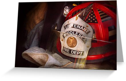 Fireman - The Lieutenants cap  by Mike  Savad