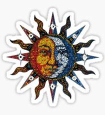 Celestial Mosaic Sun/Moon Sticker