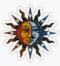 Celestial Mosaic Sun/Moon Transparenter Sticker