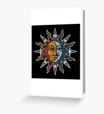 Celestial Mosaic Sun/Moon Greeting Card