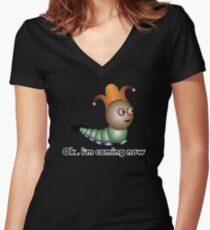 OK Women's Fitted V-Neck T-Shirt