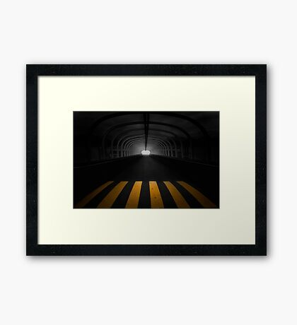 Lost In The Shadows, I Walk Alone Framed Print