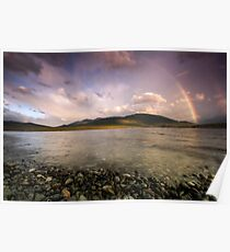 Rainbows Over Fiordland Poster