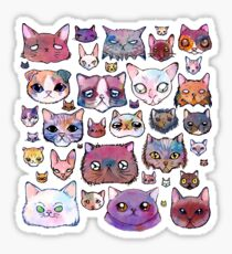 Feline Faces Sticker