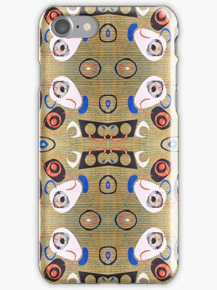 Funky eye poppin colourful abstract mid century retro by bearoberts