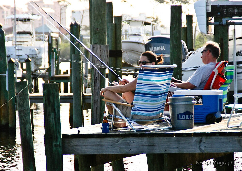 Fishing off the dock by KSKphotography