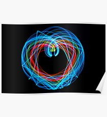 Double Pendulum with LEDs Poster