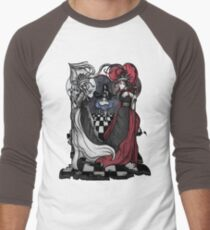 Alice and her Queens: The Checkered Board Men's Baseball ¾ T-Shirt