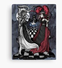 Alice and her Queens: The Checkered Board Canvas Print