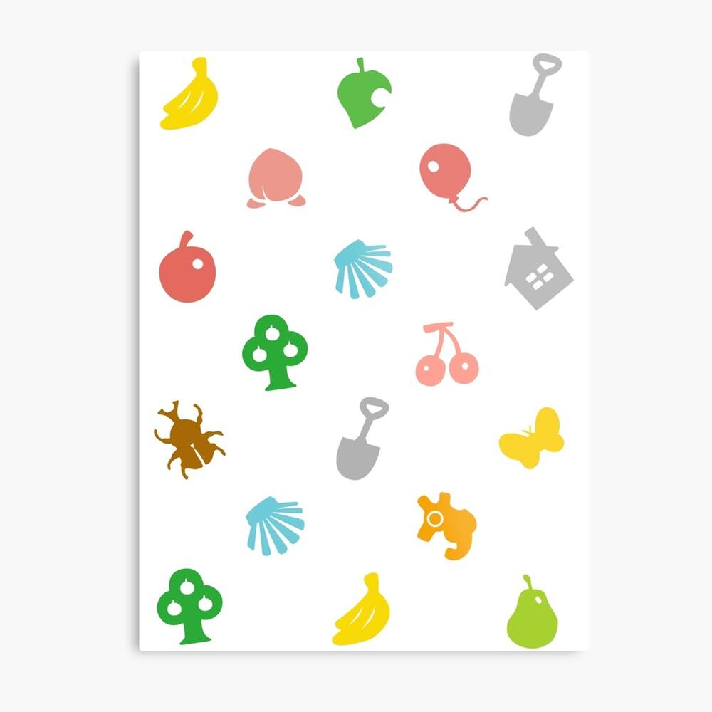 Animal Crossing Amiibo Karte - Muster Metallbild