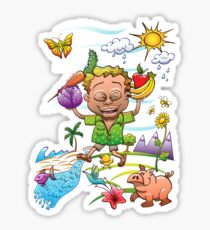 Growing Happy Kids Sticker