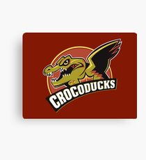 Crocoducks Canvas Print