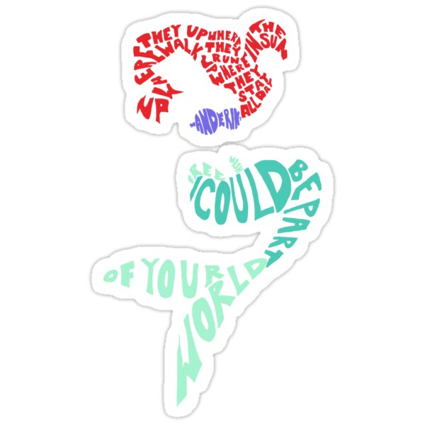 Quot Under The Sea Quot Stickers By Rebeccaariel Redbubble