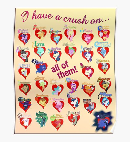 I have a crush on... all of them! - 3 Poster