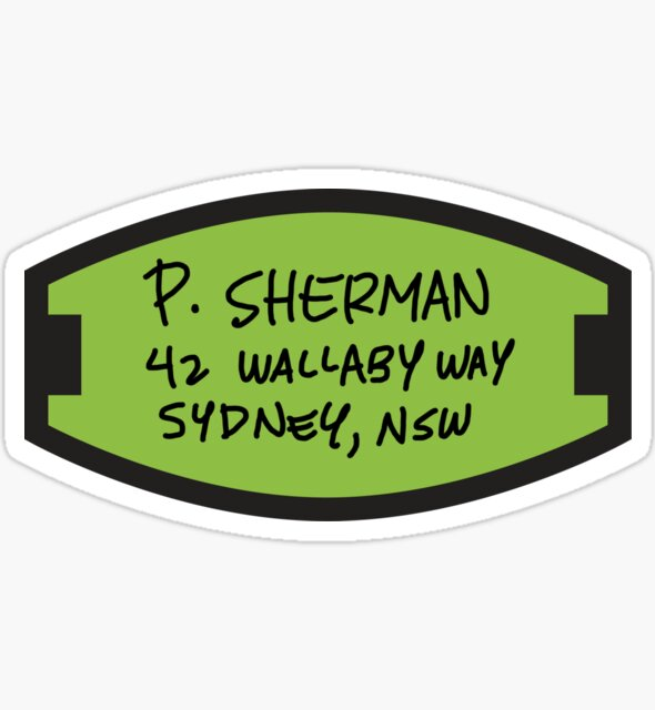 P. Sherman Sticker