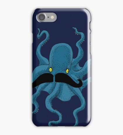 Octopus with a Mustache iPhone Case/Skin
