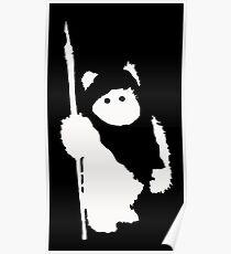 Ewok Silhouette (Black) Poster