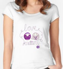 love knitting couple Women's Fitted Scoop T-Shirt