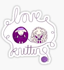 love knitting couple Sticker
